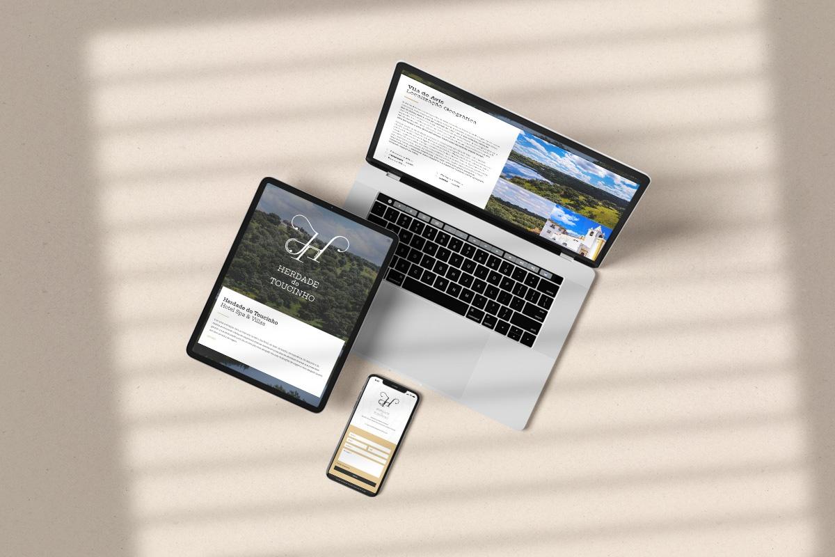 Website Herdade do Toucinho - Atto Creative Solutions
