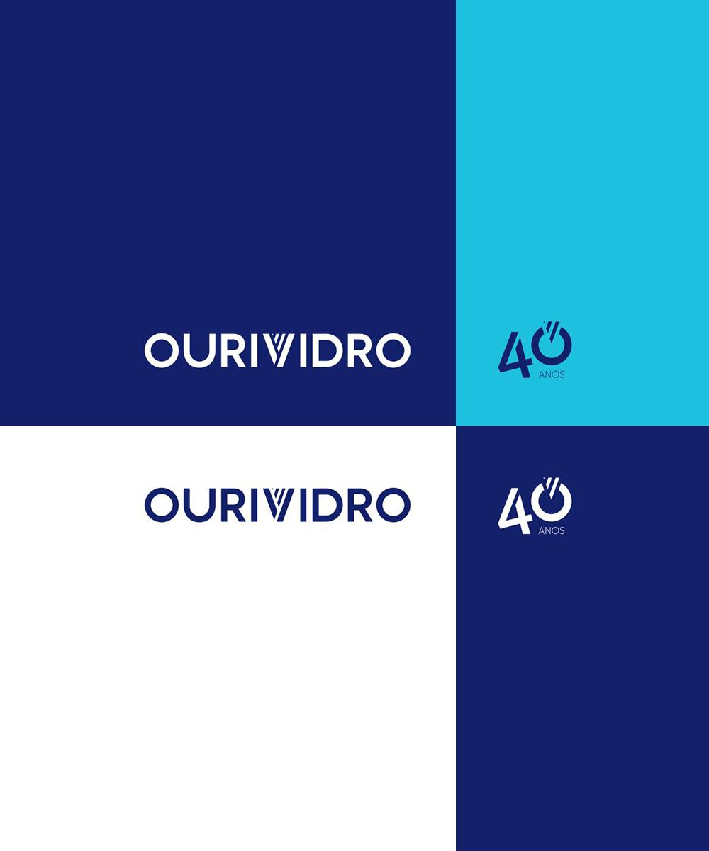 Logotipo Ourividro - Atto Creative Solutions